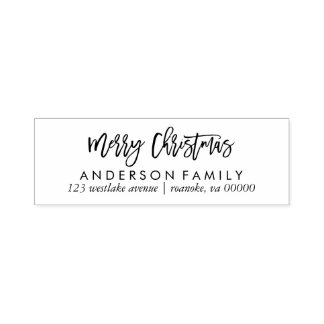 Script Typography Merry Christmas Self-inking Stamp