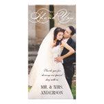 Script Wedding Thank You Photo Card Template