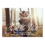 Scripted Beauty Save The Date Card 13 Cm X 18 Cm Invitation Card