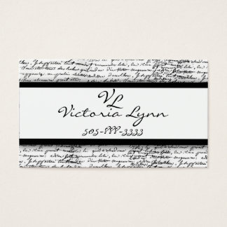 scripted business card
