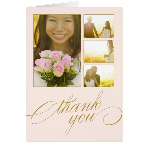 SCRIPTED COLLAGE | WEDDING THANK YOU CARD