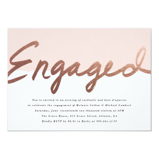 Scripted Love Faux Foil Engagement announcement