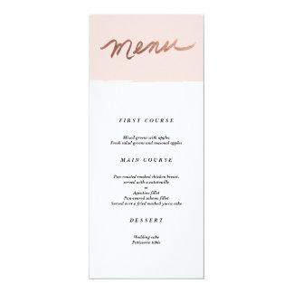 Scripted Love Faux Foil Wedding Menu 10 Cm X 24 Cm Invitation Card