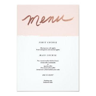 Scripted Love Faux Foil Wedding Menu 13 Cm X 18 Cm Invitation Card