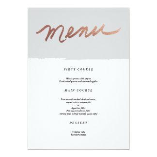 Scripted love faux foil | Wedding Menu 13 Cm X 18 Cm Invitation Card