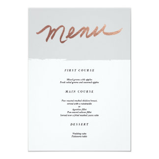 Scripted love faux foil | Wedding Menu Card