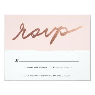 Scripted love | RSVP card 11 Cm X 14 Cm Invitation Card