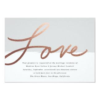 Scripted love | Wedding invitation