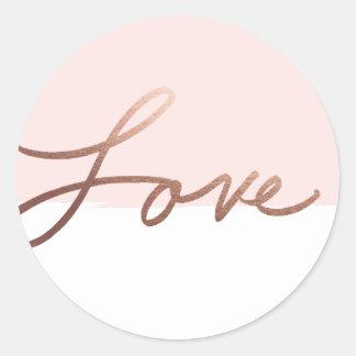 Scripted love   Wedding sticker