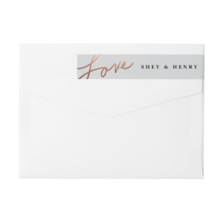 Scripted love wrap around return address label