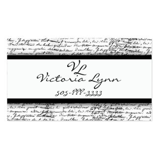 scripted pack of standard business cards