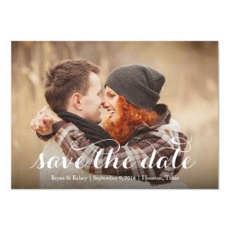 Scripted Save the Date 13 Cm X 18 Cm Invitation Card