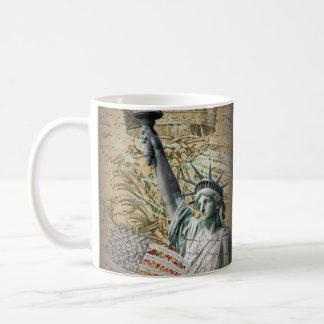 Scripts Patriotic New York statue of liberty Coffee Mug