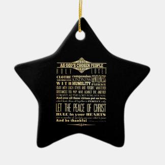 Scriptural Bible Verse - Colossians 3:12-13 Christmas Ornament