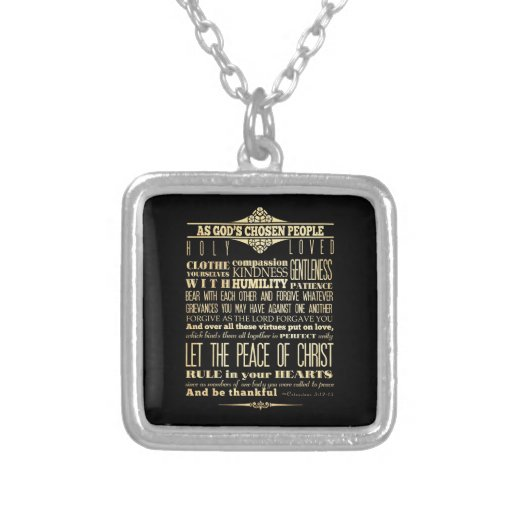 Scriptural Bible Verse - Colossians 3:12-13 Jewelry