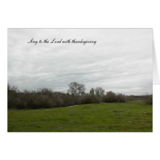Scripture Blank Greeting Card: Landscape Greeting Card