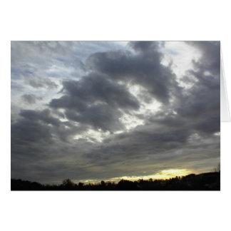 Scripture Card-Dark clouds, Psalm 36:5 Greeting Card