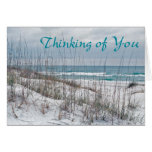 Scripture card -- Thinking of you -beach
