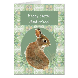 Scripture Easter Best Friend Cute Rabbit Card