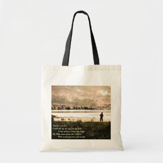 Scripture Encouragement - My Help Comes from Budget Tote Bag