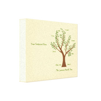 Scripture Family Tree  Canvas Print, Full Color Gallery Wrapped Canvas