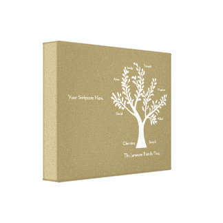 Scripture Family Tree  Canvas Print, Khaki Gallery Wrapped Canvas