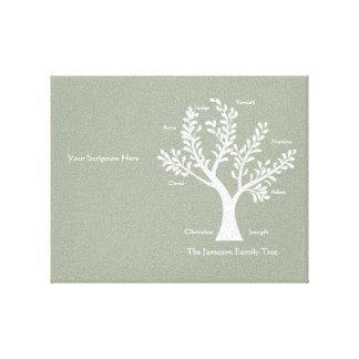 Scripture Family Tree  Canvas Print, Warm Gray