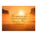 Scripture His mercies are new every morning Custom Postcard