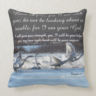 Scripture Isaiah Dolphin Beach/Swan Birds Pillow