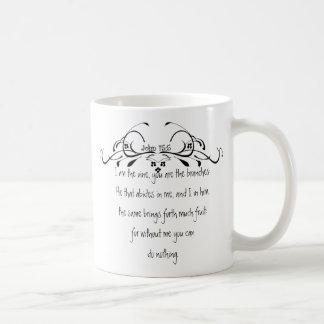 Scripture, John 5:15 I am the Vine Coffee Mug