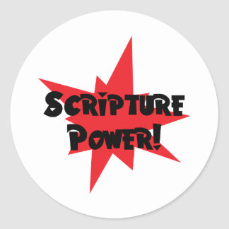 Scripture Power Round Sticker