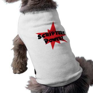 Scripture Power Sleeveless Dog Shirt