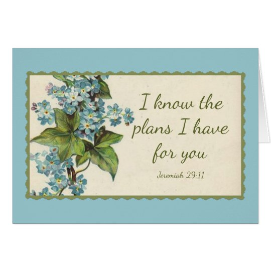Scripture Quote Flowers Greenery Vintage Card