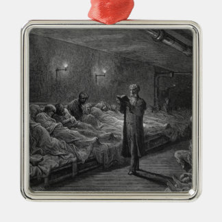 Scripture Reader in a Night Refuge Christmas Ornament