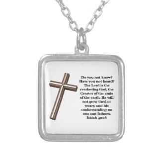 Scripture Verse Square Pendant Necklace