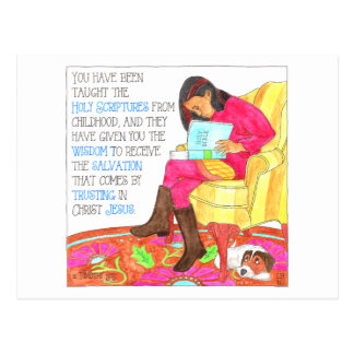 Scriptures Inspirational Post Card