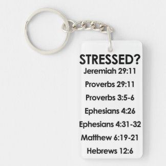 Scriptures Rectangle (single-sided) Keychain