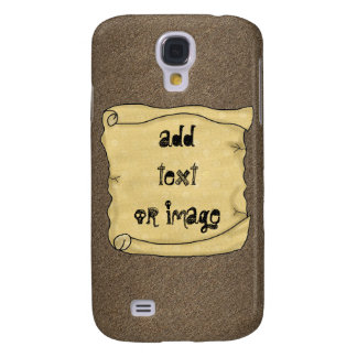 Scroll Brown Hard Shell Case iPhone 3G 3GS Galaxy S4 Case