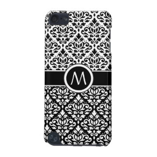 Scroll Damask 2Part Ptn BW & Band (Personalized) iPod Touch 5G Cover
