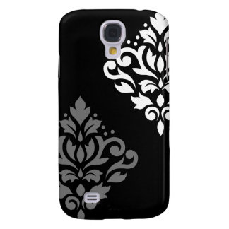 Scroll Damask Art I Black Grey White Galaxy S4 Case