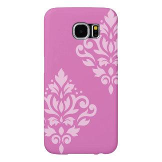 Scroll Damask Art I Light on Dark Pink Samsung Galaxy S6 Cases