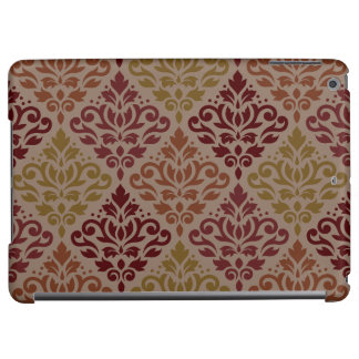 Scroll Damask Big Ptn Reds Orange Gold Taupe iPad Air Case