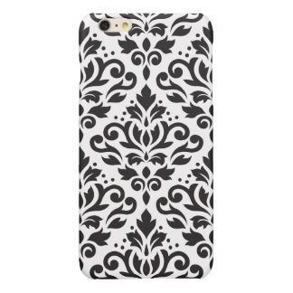Scroll Damask Large Pattern Black on White iPhone 6 Plus Case