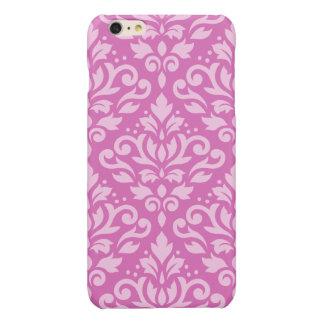 Scroll Damask Large Pattern Light on Dark Pink iPhone 6 Plus Case