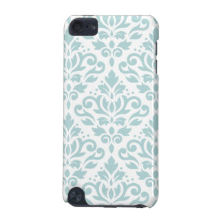 Scroll Damask Lg Ptn Duck Egg Blue (B) on White iPod Touch 5G Covers
