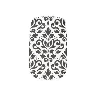 Scroll Damask Pattern Black on White Minx Nail Art