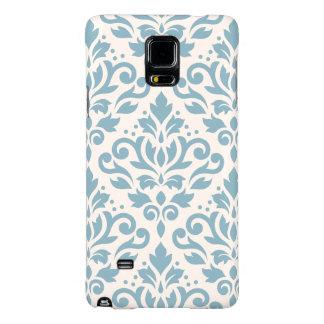 Scroll Damask Pattern Blue on Cream Galaxy Note 4 Case