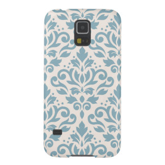 Scroll Damask Pattern Blue on Cream Galaxy S5 Case