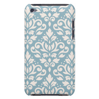 Scroll Damask Pattern Cream on Blue iPod Touch Cover
