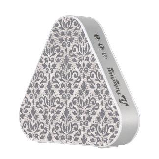 Scroll Damask Pattern Grey on Cream